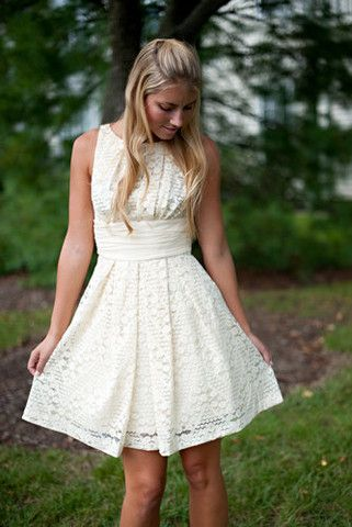 Gorgeous modest white summer dress that would also look super cute with a jean jacket! LOVE