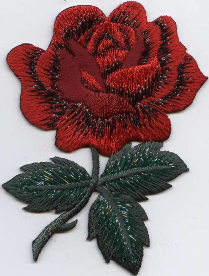 Details about iron on embroidered applique patch large
