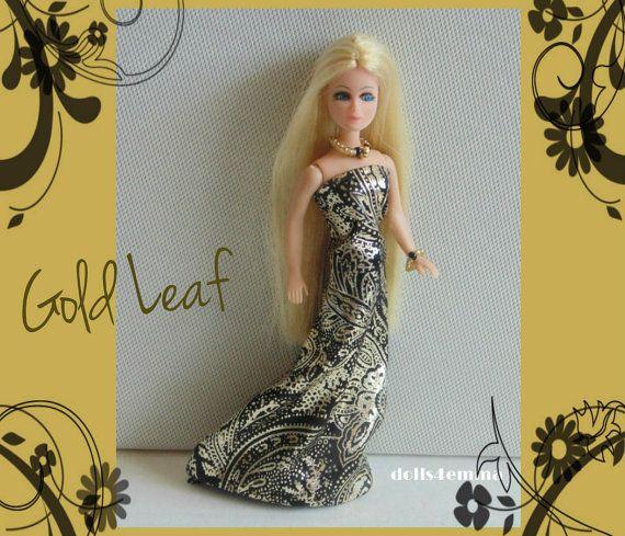 Gouden jurk en sieraden Set - Dawn Doll kleding - Custom mode - door dolls4emma