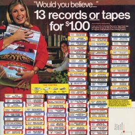 13 records for a penny at Columbia House