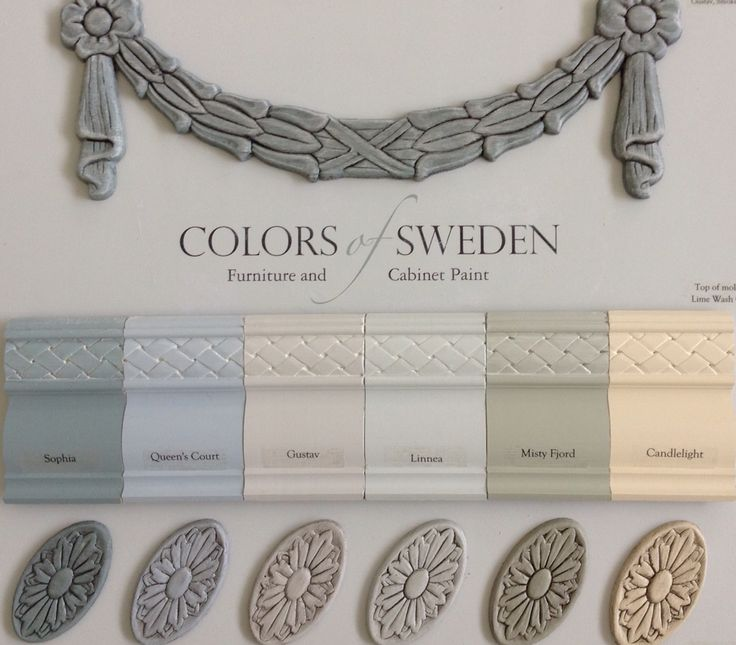 Paint colors reflect the Swedish Gustavian Style; soft grays, blues, greens and warm white. Lime Wash Glaze and Sheer Smoke Glaze to add beauty.  Colors of Sweden now available through select retailers #paintcolorsofsweden