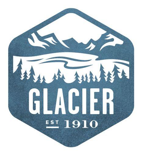 National Park Stamps by Valerie Jar for the National Parks App, camp, camping, explore, glacier, glacier state park, mountain, tree, nature, hike, hiking, national parks, park, national parks app, valerie jar, badges,