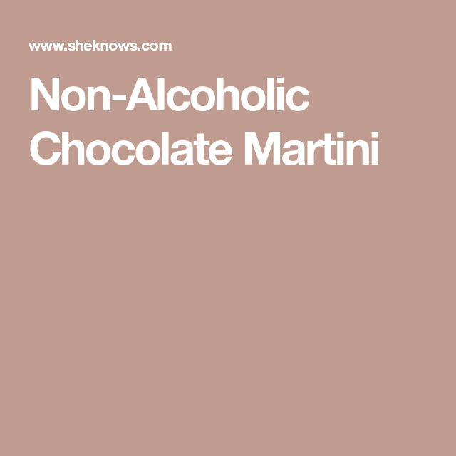Non-Alcoholic Chocolate Martini