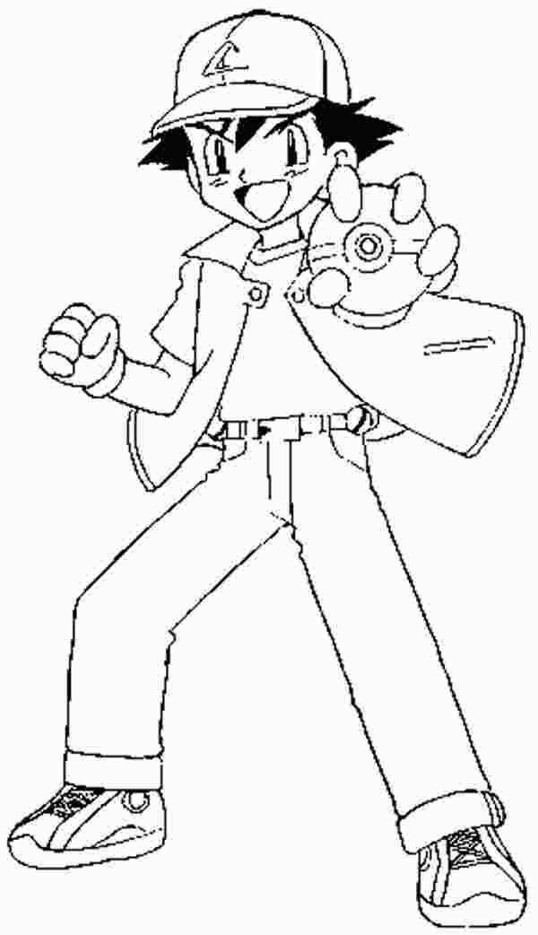 Pokemon Ash Ketchum Coloring Page Ash Pokemon Pokemon Coloring