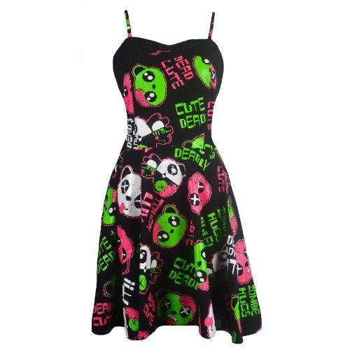 Kp Dead Zombie Dress Ladies Killer Panda New Gothic Emo Punk Osiris Fashion