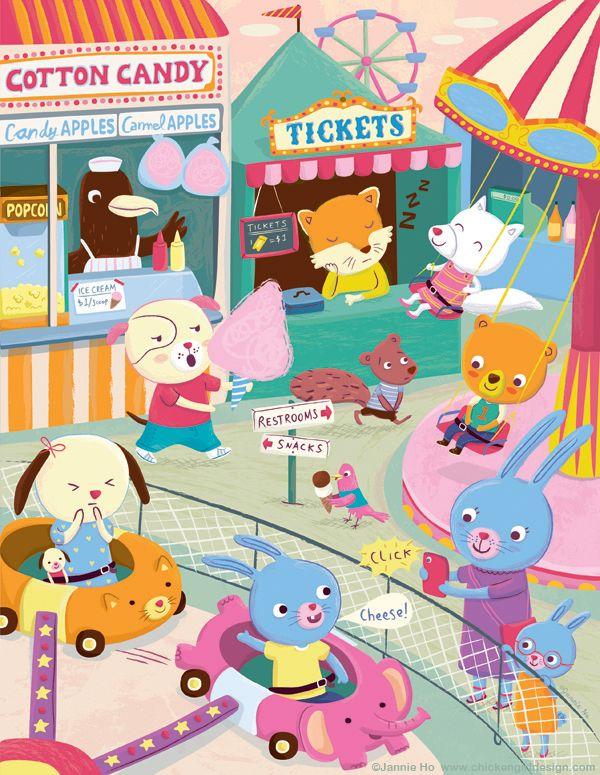 Carnival by Jannie Ho #illustration #carnival #fair