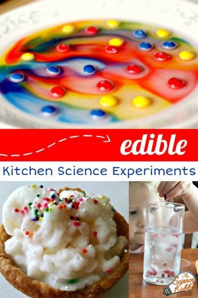 Is there anything better than doing a kitchen science experiment you can eat? I don't think so! Make everything from ice cream to hard candy to a colorful Skittles rainbow and enjoy a sweet reward at the end.