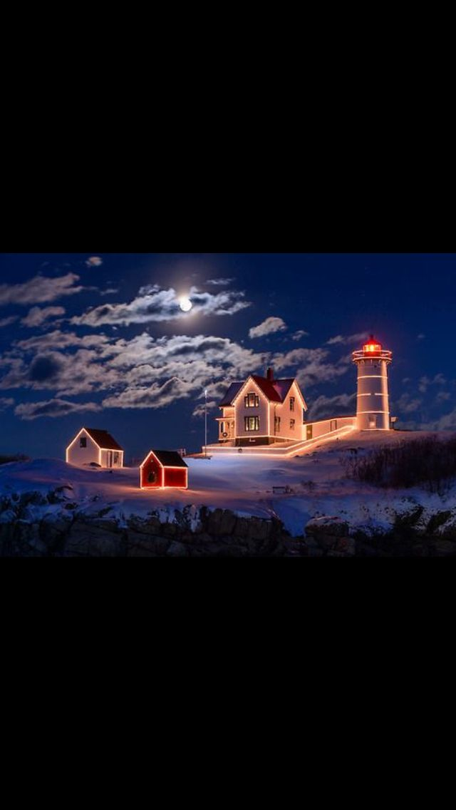 The Nubble Light House in York Maine. One of the many reasons to visit the Viewpoint Hotel during the winter.
