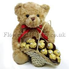 Image result for teddy with chocolates