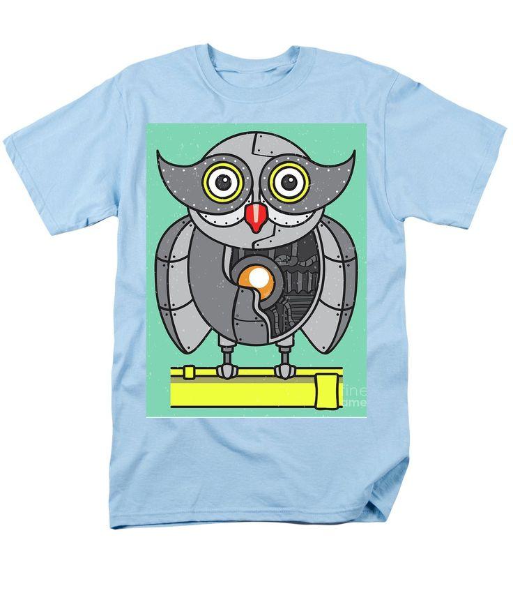 Steampunk Owl Men's T-Shirt (Regular Fit) featuring the photograph Mechanical Owl Artwork by Jorgo Photography - Wall Art Gallery