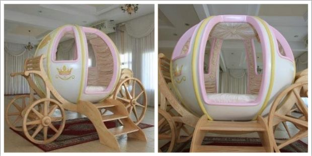 Amazing Life Size Cinderella Carriage As A Bed That Is