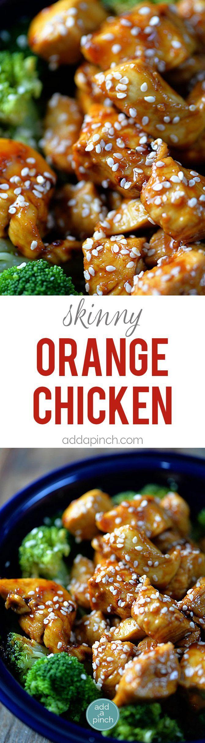^^ Orange Chicken makes a favorite Chinese dish. A lightened Orange Chicken recipe which is Paleo-friendly, gluten-free, and grain-free, yet full of flavor! // addapinch.com
