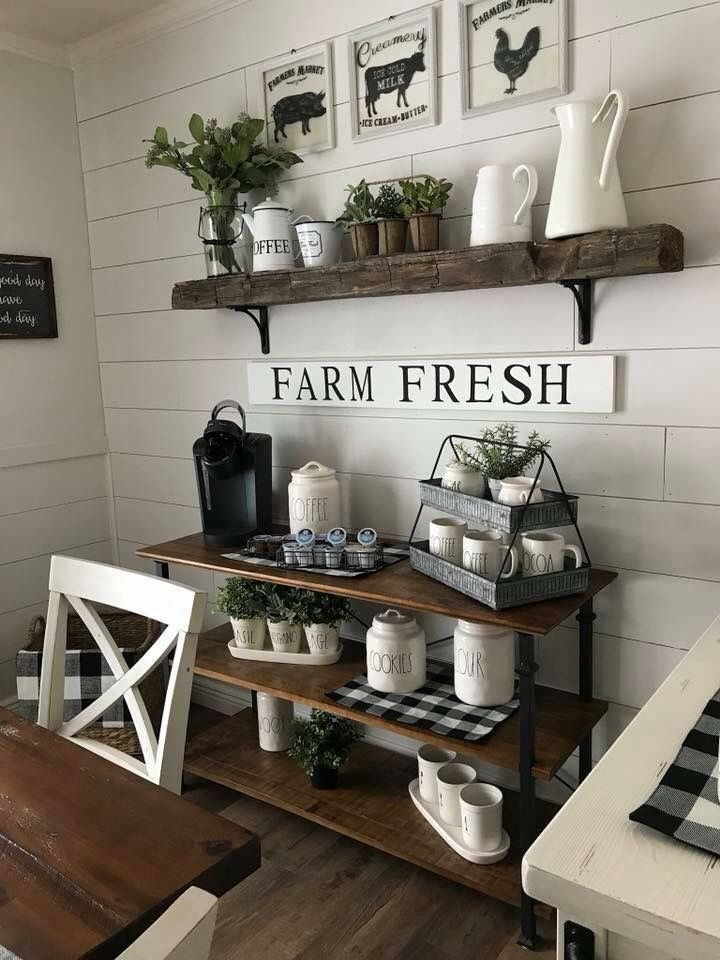 30+ Stylish Home Coffee Bar Ideas (Stunning Pictures ... on Rustic:1Gdhjdx6F3G= Farmhouse Kitchen  id=87402