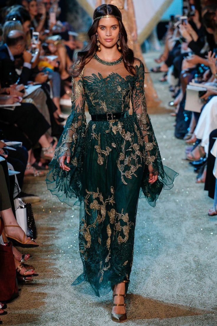 Elie Saab Fall 2017 Couture Fashion Show - Sara Sampaio