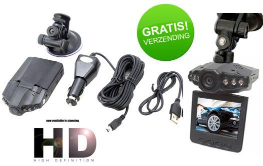 HD Dashcam Verkeersrecorder Van 99,95 voor 39,95 incl.GRATIS verzending Inklapbaar en draaibaar 2,5 Inch LCD-scherm met NightVision Auto oplader met Li-on batterij Bevestiging met zuignap en USB kabel SD opslag kaart tot 32 GB (niet inbegrepen) Op voorraad en direct leverbaar http://www.margedeals.nl #dagaanbiedingen