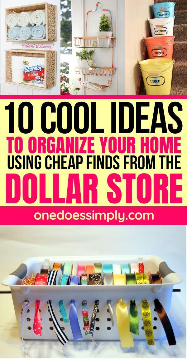 10 DIY Dollar Store Organization Hacks That Are Bo…