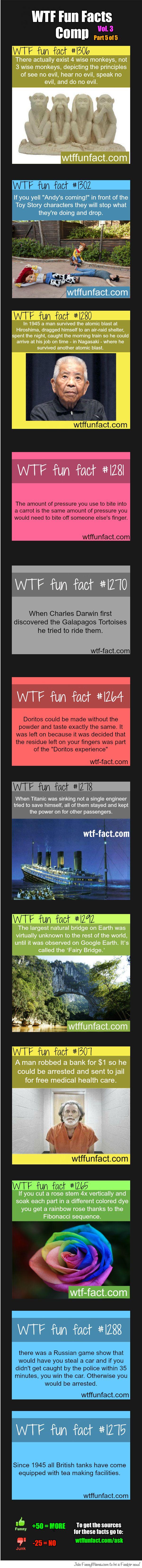 WTF Fun Facts Comp Vol. 3 Part 5