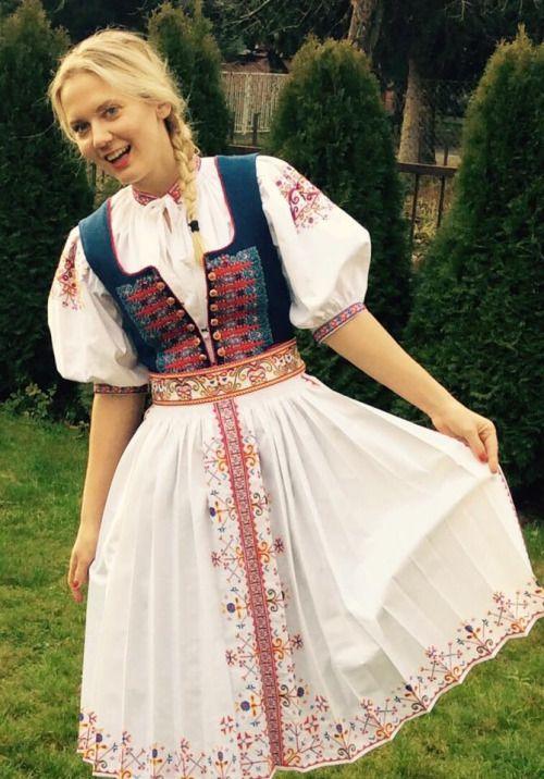Slovak folk costume, Považie region ( area of town Trenčín), Western Slovakia.