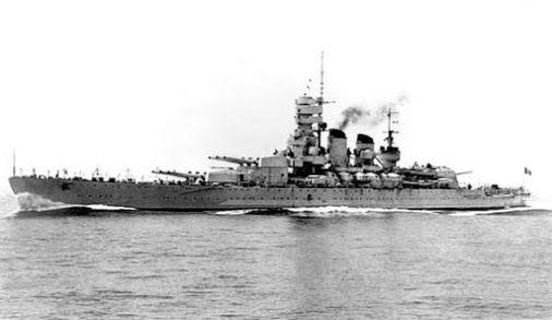 """The Italian Battleship """"Vittorio Veneto"""