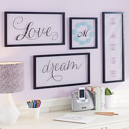 Amanda Black + White Bedroom | PBteen