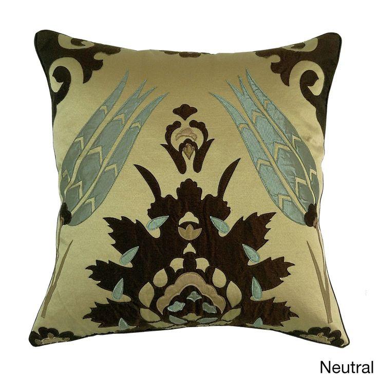 Moroccan Tile 20x20 Decorative Throw Pillow (20x20 Moraccan Tile - Neutral), Multi, Size 20 x 20 (Polyester, Applique)