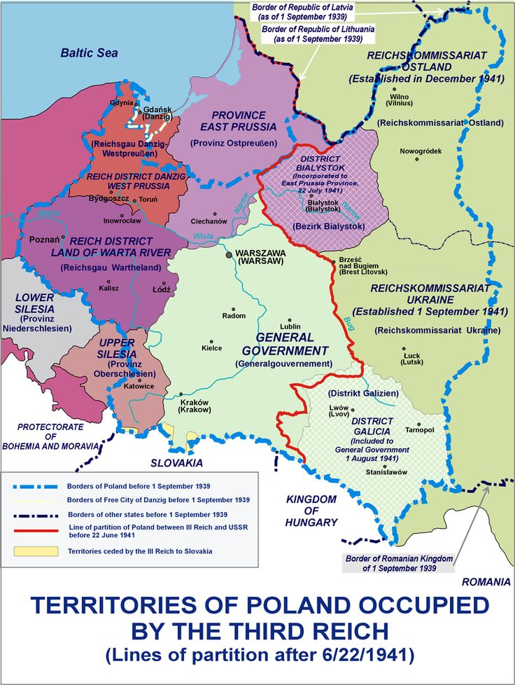 Occupation of Poland 1941 - Changes in administration of Polish territories following the 1941 German invasion of Soviet Union.  History of Poland (1939–45) - Wikipedia
