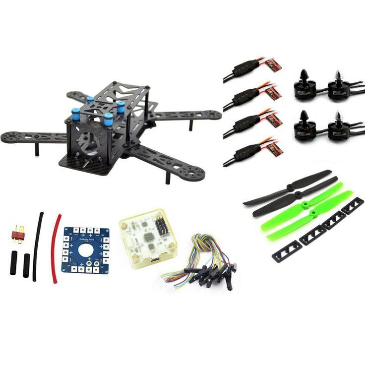 RC plane ZMR 250PRO drone with camera dron fpv drones quadcopterCombo kit motor MT2204, 12A ESC,CF Prop & CC3D EVO flight BLUE