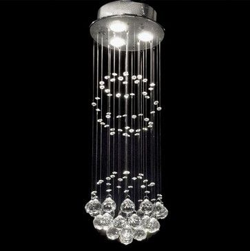 Indoor 3-light Chrome/ Crystal Ball Chandelier - contemporary - chandeliers - Overstock.com