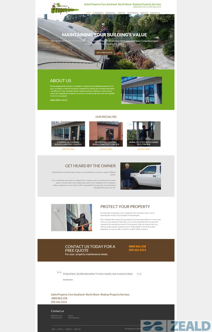 Aalto Property Care  - The art and science of good #websitedesign #website #websiteredesign #webdesign #designinsperation #rethinkyourwebsite #layout #redesign #redesignideas #redesigninspiration #creative #landingpages #beforeafter #responsive #leadgeneration #ecommerce
