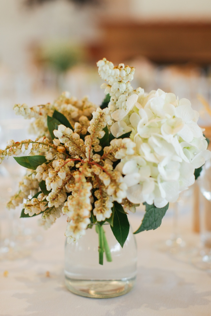 Table flowers at our wedding