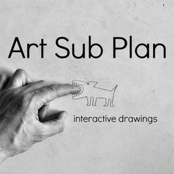 Students complete a simple drawing and take a well composed photograph of that drawing interacting with something from the human world.