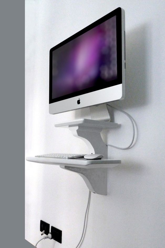 Office Furniture - Wall mount for Apple iMac® - a unique product ... | Wall mounted desk, Imac ...