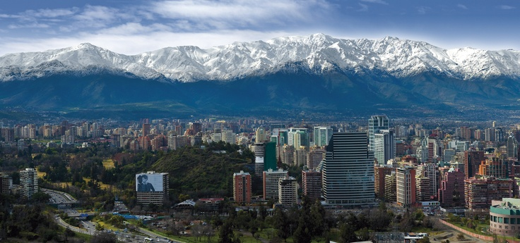 Andes Mountains, Chile #mountains #chile #building #city #santiago #andes