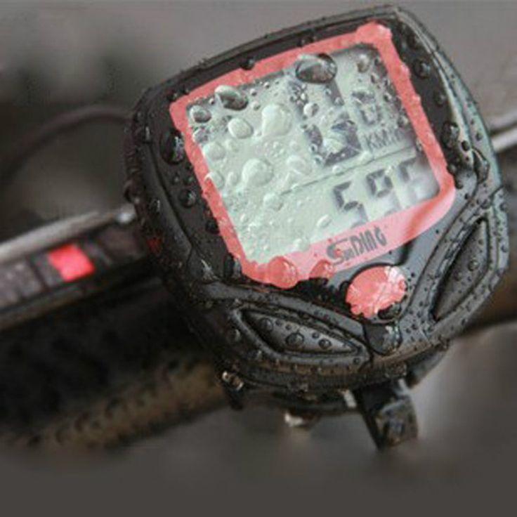 Waterproof Bersepeda Sepeda Komputer Sepeda Meter Odometer Speedometer Dengan LCD Display Komputer Kabel Stopwatch Velocimetro