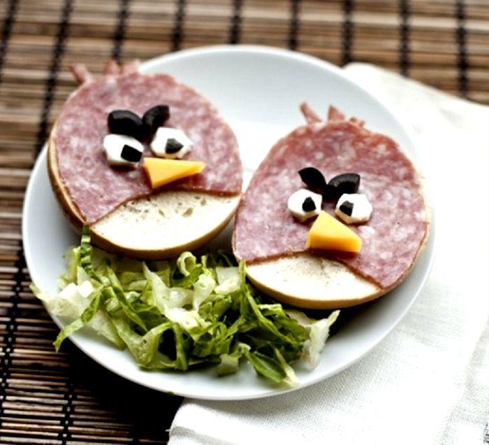 Roliga mellanmål Angry Birds