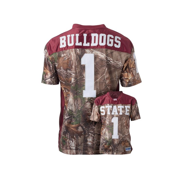 Men's Mississippi State Bulldogs Game Day Realtree Camo Jersey, Size: Medium, Brown