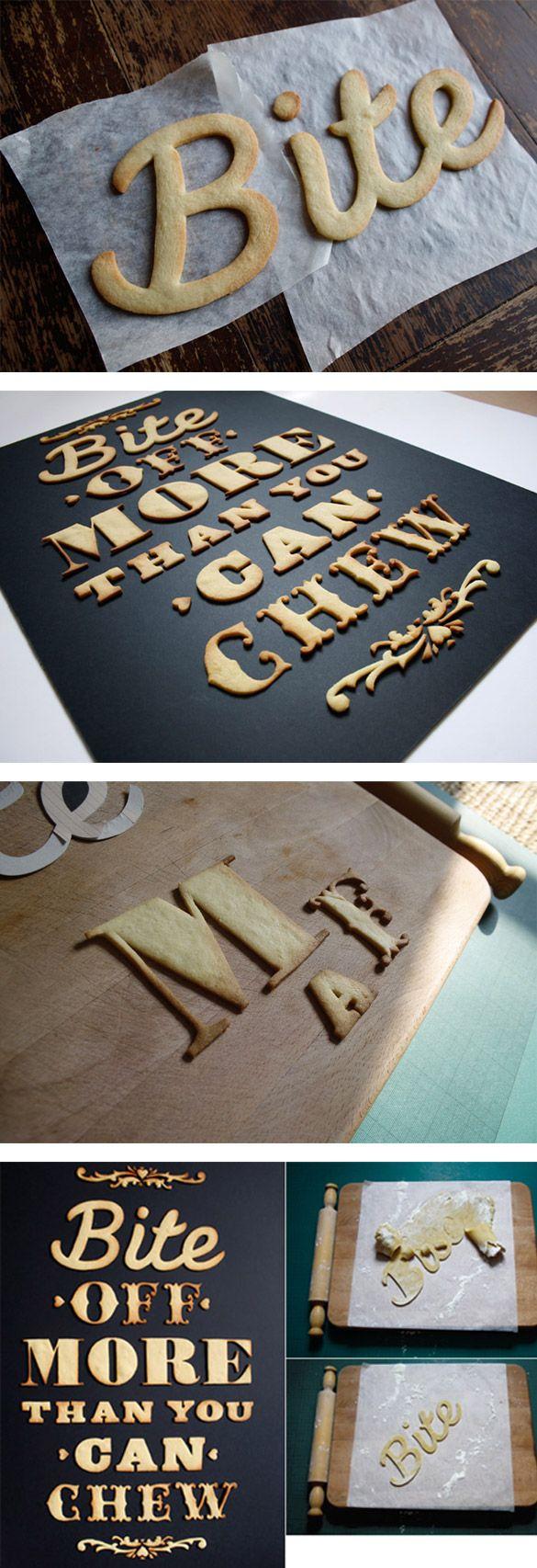 Typographie et cuisine, ou comment avoir les yeux plus gros que le ventre ? par Anna Garforth