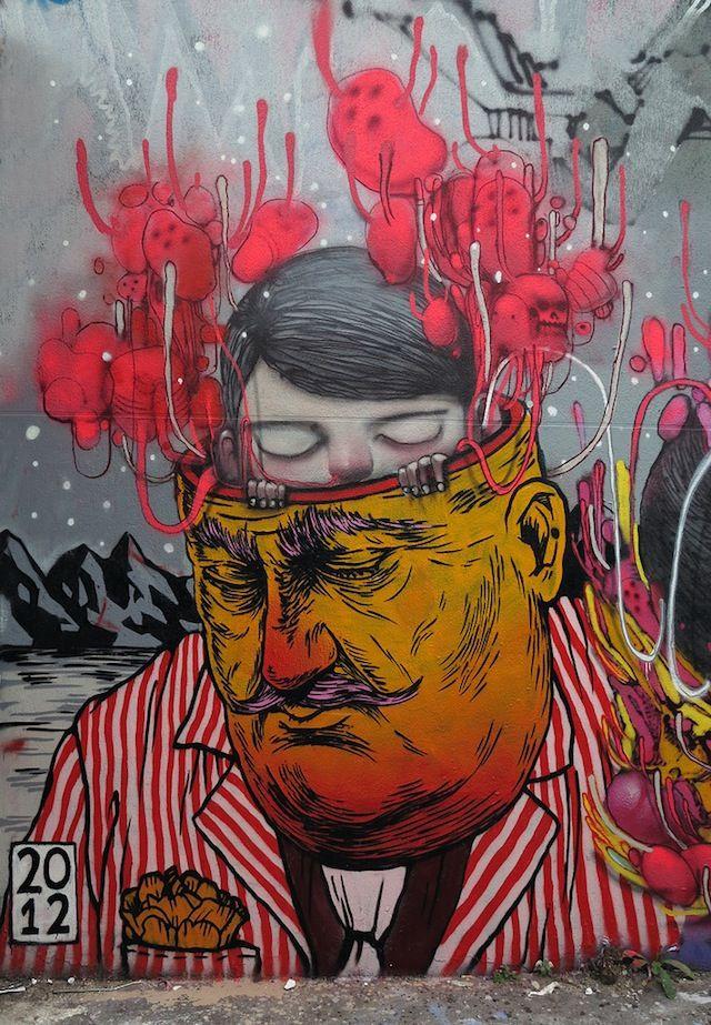 Julien Seth with Unga in Paris. street art 000