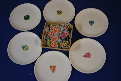 Matching Center Activity - basket of fish to match to fish on the plate.