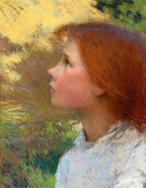 Head Of A Young Girl (Rose Grimsdale) George Clausen (1852 – 1944, English)