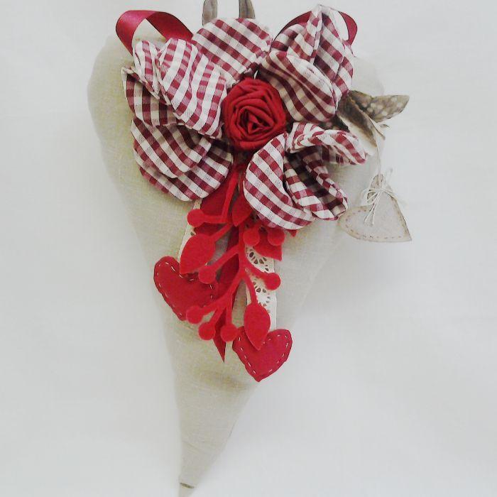 • Creazioni di Lilla | Idee originali per la casa | cuore di rose fatti a mano