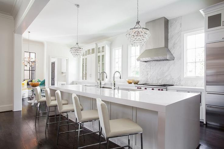 Modern light fixtures and kitchen
