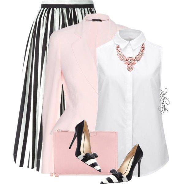 Black and White Stripes by pinkroseten on Polyvore featuring Victoria Beckham, Alexander McQueen, Dolce&Gabbana, Prada, Givenchy, SHOUROUK and Kate Spade
