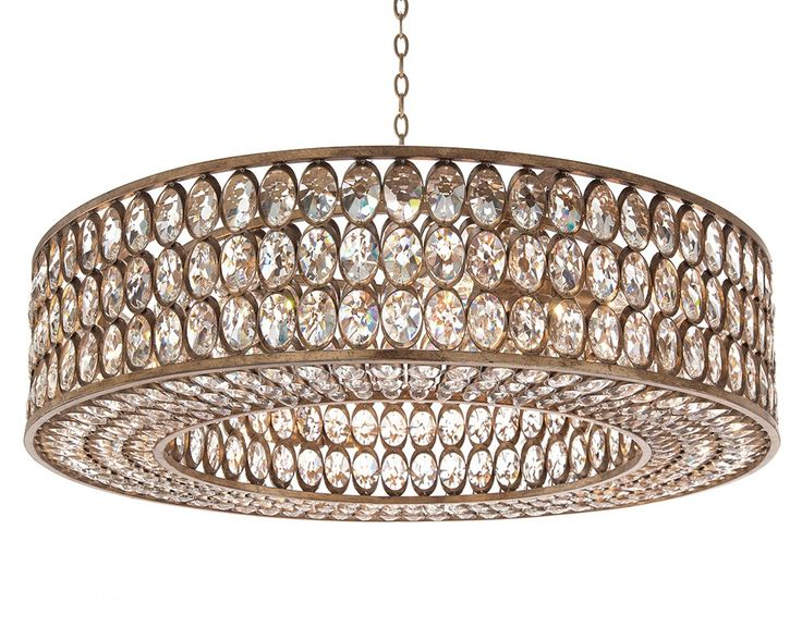 Stately Crystal Silver-Leaf Pendant - Fixed Lighting - Lighting - Our Products