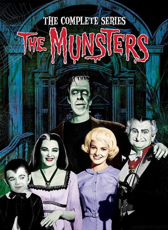 The Munsters complete series on DVD.