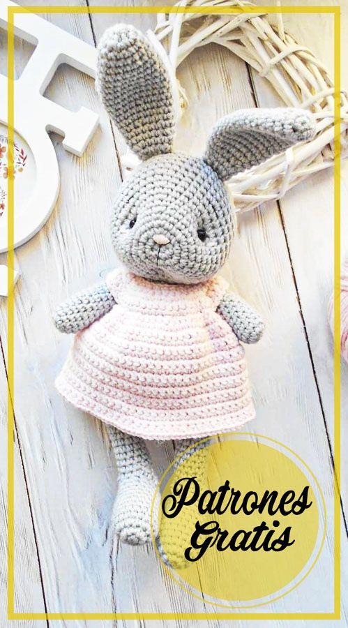 Patrón de ganchillo libre de conejo Amigurumi - Página 4 de 6 - Patrones de amigurumi gratis Crochet Bunny Pattern, Crochet Rabbit, Crochet Bear, Love Crochet, Crochet Birds, Crochet Fairy, Easter Crochet, Crochet Crafts, Crochet Projects