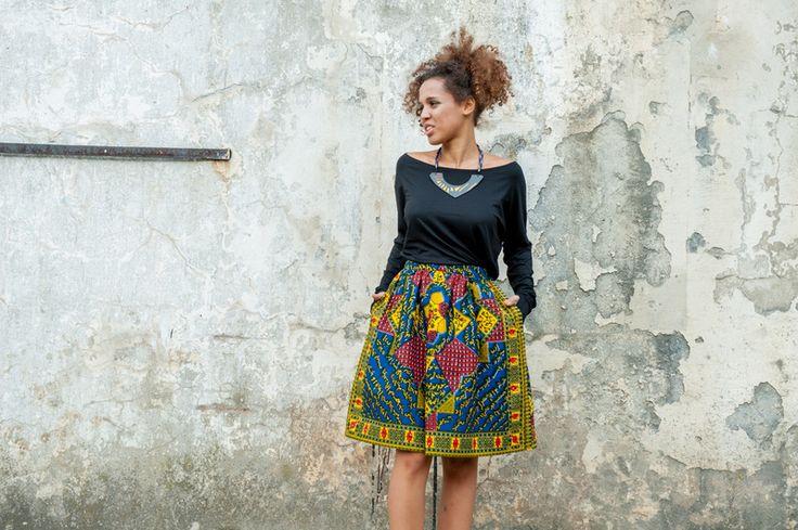 Ballonröcke - Rock aus Gambia - Addis Abeba - ein Designerstück von KOKOworld bei DaWanda