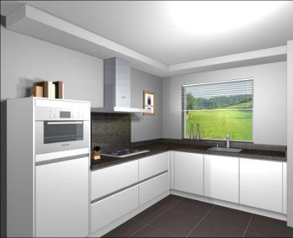 Een grote open keuken is tegenwoordig een eis die vaak terugkomt bij het bouwen van huizen. Wij hebben daarom in ons ontwerp hier rekening mee gehouden door ruimte te maken voor een grote keuken in L-vorm dat uitzicht heeft naar buiten.  Bron: http://www.martenskeukens.nl/awm/content_afbeeldingen_gr/L%20Keuken.jpg