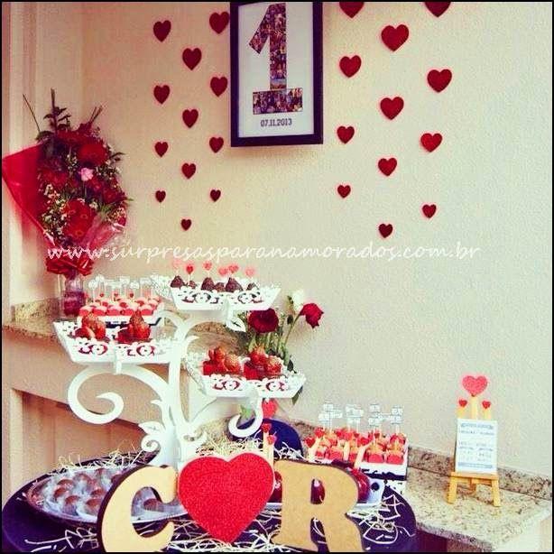 festinha de 1 ano de namoro