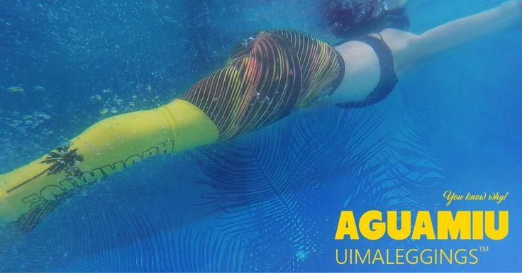 Uima-asu uutuus! Aguamiu-uimaleggingsit on vesiliikuntaa harrastavan tai sitä vielä välttelevän naisen uusi lempivaate.